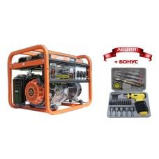 Генератор бензиновый Shtenli 7000 Pro (6,5 кВт) три розетки 220В