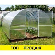 Теплица из поликарбоната Сибирская 20Ц-0.5 (труба 20*20, шаг 50 см) 4,6,8,10 метров