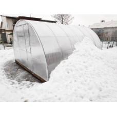 Теплица Сибирская Широкая 40Ц-0.67 (ширина 4 метра), двустворчатая дверь, 4,6,8,10 метров