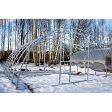 Теплица из Поликарбоната Сибирская 40ц-0,67 3.5 ширина (4,6,8,10м)